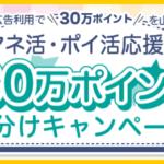 ハピタス「マネ活・ポイ活応援!30万ポイント山分けキャンペーン」